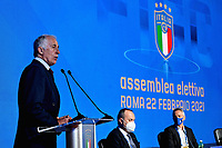 ROME, ITALY - FEBRUARY 22:  CONI President Giovanni Malago' attends the FIGC Elective Assembly at Cavalieri Waldorf Astoria Hotel on February 21, 2021 in Rome, Italy.  <br /> Photo Marco Rosi / FIGC / Insidefoto