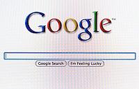 Google search screen.