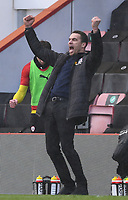 13th March 2021; Vitality Stadium, Bournemouth, Dorset, England; English Football League Championship Football, Bournemouth Athletic versus Barnsley; Valerien Ismael Manager of Barnsley celebrates the final whistle and his team winning 2-3