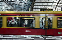 GERMANY, Berlin, Hauptbahnhof, central railway station, city train S-Bahn