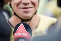 pre race interview with eventual winner Dylan Groenewegen (NED/Lotto NL - Jumbo)<br /> <br /> 103th Kampioenschap van Vlaanderen 2018 (UCI 1.1)<br /> Koolskamp – Koolskamp (186km)