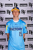 Jacob Honadel (15) of Blue Valley High School in Overland Park, Kansas during the Baseball Factory All-America Pre-Season Tournament, powered by Under Armour, on January 12, 2018 at Sloan Park Complex in Mesa, Arizona.  (Mike Janes/Four Seam Images)