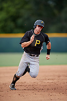 Pittsburgh Pirates Lucas Tancas (5) runs the bases during an Instructional League intrasquad black and gold game on October 3, 2017 at Pirate City in Bradenton, Florida.  (Mike Janes/Four Seam Images)