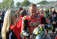 Shane Byrne of Be Wiser Ducati Racing Team on the grid for race two of the MCE British Superbikes in Association with Pirelli round 12 2017 - BRANDS HATCH (GP) at Brands Hatch, Longfield, England on 15 October 2017. Photo by Alan  Stanford / PRiME Media Images.