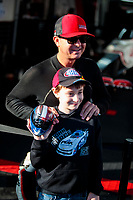 Oct 14, 2019; Concord, NC, USA; NHRA top fuel driver Steve Torrence during the Carolina Nationals at zMax Dragway. Mandatory Credit: Mark J. Rebilas-USA TODAY Sports