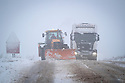 29/12/17<br /> <br /> A tractor with a snow plough clears the A515 near Buxton, Derbyshire.<br /> <br /> All Rights Reserved F Stop Press Ltd. +44 (0)1335 344240 +44 (0)7765 242650  www.fstoppress.com