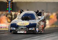 Feb. 24, 2011; Pomona, CA, USA;  NHRA funny car driver Brian Thiel during qualifying for the Winternationals at Auto Club Raceway at Pomona. Mandatory Credit: Mark J. Rebilas-