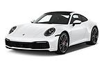 2020 Porsche 911 Carrera-S 2 Door Coupe Angular Front automotive stock photos of front three quarter view