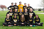 April 11, 2016- Tuscola, IL- The 2017 Tuscola Hornet 8th grade girls track team. Back row from left are Hope Dietrich, Marissa Russo, Meadow Picazo, Hannah Hornaday, and Laney Cummings. Middle row from left are Myia Vargas, Brynn Tabeling, Ashlyn Donnals, Paige Goad, Lindsey Benson. Front row from left are Hannah Anderson, Ruchi Patel, Samantha Simpson, Charlize Wilson, and Ava Cothron. [Photo: Douglas Cottle]