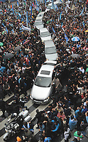 The cars carring 8 Latin American Presidents leaves the Presdiential Palace followinf the hoarse carring the coffin of  Argentina Nestor Kirchner  in  Buenos Aires, Argentina