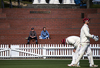 Fans watch during day three of the Plunket Shield match between the Wellington Firebirds and Canterbury at Basin Reserve in Wellington, New Zealand on Wednesday, 21 October 2020. Photo: Dave Lintott / lintottphoto.co.nz