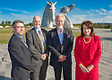 Falkirk Employment Law Launch Event at The Kelpies..... LtoR Iain Burke, Fraser Tait, Malcolm McKay and Fioma Munn...