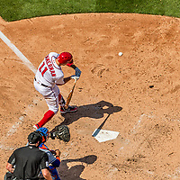 30 April 2017: Washington Nationals first baseman Ryan Zimmerman at bat in the 4th inning against the New York Mets at Nationals Park in Washington, DC. The Nationals defeated the Mets 23-5, with the Nationals setting several individual and team records, in the third game of their weekend series. Mandatory Credit: Ed Wolfstein Photo *** RAW (NEF) Image File Available ***