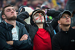 © Joel Goodman - 07973 332324 . 11/06/2016 . Manchester , UK . England fans watch the England vs Russia match on a big screen at Parklife music festival at Heaton Park in Manchester . Photo credit : Joel Goodman