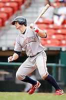 May 28, 2009:  Lehigh Valley IronPigs Catcher Lou Marson at bat during a game vs. the Buffalo Bisons at Coca-Cola Field in Buffalo, NY.  The IronPigs are the International League Triple-A affiliate of the Philadelphia Phillies.  Photo by:  Mike Janes/Four Seam Images