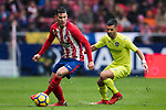 Lucas Hernandez (L) of Atletico de Madrid is tackled by Angel Luis Rodriguez Diaz of Getafe CF during the La Liga 2017-18 match between Atletico de Madrid and Getafe CF at Wanda Metropolitano on January 06 2018 in Madrid, Spain. Photo by Diego Gonzalez / Power Sport Images