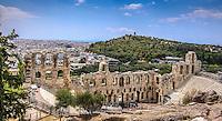 Fine Art Landscape Photograph of the Acropolis stadium in Athens Greece.