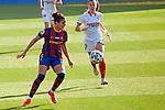 Liga IBERDROLA 2020-2021. Jornada: 12<br /> FC Barcelona vs Sevilla: 6-0.<br /> Melanie Serrano vs Carla Armengol.