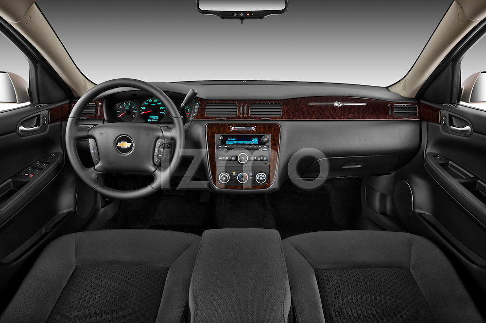 Straight dashboard view of a 2012 Chevrolet Impala LS .