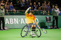 Rotterdam, The Netherlands, February 13, 2016,  ABNAMROWTT, Gordon Reid (GBR)<br /> Photo: Tennisimages/Henk Koster