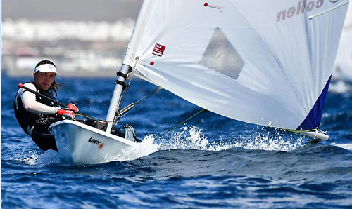 Annalise Murphy of the National Yacht Club scored 29,8 to lie 34th overall after day one