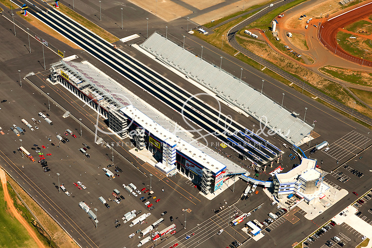 Aerial photography over Charlotte, NC, and the surrounding areas from May 2009. Photos by Charlotte photographer Patrick Schneider Photography. Image shows the zMAX Dragway @ Concord, a state-of-the-art drag racing facility with the only all-concrete, four-lane drag strip in the United States.