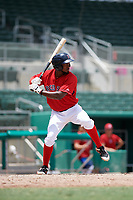 GCL Red Sox right fielder Chad Hardy (25) at bat during a game against the GCL Orioles on August 9, 2018 at JetBlue Park in Fort Myers, Florida.  GCL Red Sox defeated GCL Orioles 10-4.  (Mike Janes/Four Seam Images)