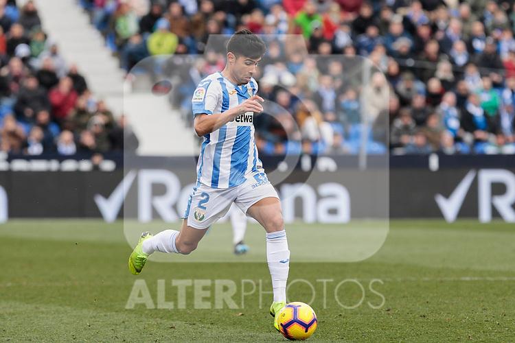 CD Leganes's Juan Francisco Moreno during La Liga match between CD Leganes and Real Betis Balompie at Butarque Stadium in Madrid, Spain. February 10, 2019. (ALTERPHOTOS/A. Perez Meca)