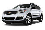 Stock pictures of low aggressive front three quarter view of 2017 Chevrolet Traverse LS-FWD 5 Door SUV Low Aggressive