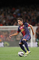 02/09/2012 - Liga Football Spain, FC Barcelona vs. Valencia CF Matchday 3 - Jordi Alba, spanish left defense from FC BArcelona, and ex Valencia CF player, controls the ball