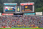 Russia vs Barbados during the Cathay Pacific / HSBC Hong Kong Sevens at the Hong Kong Stadium on 28 March 2014 in Hong Kong, China. Photo by Xaume Olleros / Power Sport Images