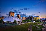 Dayton Ohio skyline photo summer evening showing Riverscape