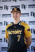 Spencer Honald (7) of The Dalles High School in The Dalles, Oregon during the Baseball Factory All-America Pre-Season Tournament, powered by Under Armour, on January 12, 2018 at Sloan Park Complex in Mesa, Arizona.  (Zachary Lucy/Four Seam Images)