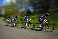 Palmerston North BHS senior A u20 boys in action during the NZ Schools Road Cycling championship day one team time trials at Koputaroa Road near Levin, New Zealand on Saturday, 30 September 2017. Photo: Dave Lintott / lintottphoto.co.nz