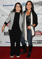 HOLLYWOOD, LOS ANGELES, CA, USA - OCTOBER 16: Raquel Bordin, Candace Balido arrive at the 2014 Hollywood Film Festival - Opening Night Gala held at ArcLight Hollywood on October 16, 2014 in Hollywood, Los Angles, California, United States. (Photo by Celebrity Monitor)