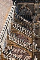 Europe/France/Aquitaine/64/Pyrénées-Atlantiques/Pays-Basque/Bayonne: Vue sur les arcs-boutant de la Cathédrale Sainte-Marie