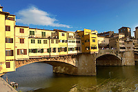 Ponte Vecchio over the River Arno, Florence, Italy.