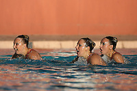 STANFORD, CA - FEBRUARY 7:  (L-R) Maria Koroleva, Taylor Durand, and Olivia Morgan of the Stanford Cardinal during Stanford's 88-78 win against the Incarnate Word Cardinals on February 7, 2009 at Avery Aquatic Center in Stanford, California.