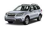 2018 Subaru Forester 2.5i-Limited-CVT 5 Door SUV Angular Front stock photos of front three quarter view