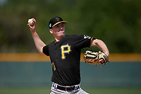 Pittsburgh Pirates John O'Reilly (70) during a minor league Spring Training game against the Philadelphia Phillies on March 13, 2019 at Pirate City in Bradenton, Florida.  (Mike Janes/Four Seam Images)