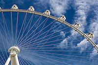 Las Vegas, Nevada.  Gondolas on the  High Roller, World's Tallest Observation Wheel as of 2015.