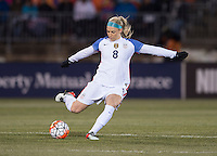 East Hartford, CT - April 5, 2016: The USWNT defeated Colombia 7-0 during their international friendly at Pratt & Whitney Stadium.