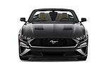 Car photography straight front view of a 2019 Ford Mustang EcoBoost 2 Door Convertible