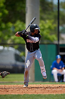Jupiter Hammerheads James Nelson (20) at bat during a Florida State League game against the Dunedin Blue Jays on May 16, 2019 at Jack Russell Memorial Stadium in Clearwater, Florida.  Dunedin defeated Jupiter 1-0.  (Mike Janes/Four Seam Images)