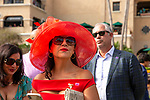 """DEL MAR, CA  JULY 28:  In the paddock before the Clement L Hirsch Stakes (Grade 1) a Breeders' Cup """"Win and You're In"""" Distaff Division (Photo by Casey Phillips/Eclipse Sportswire/CSM)"""