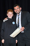 St Johnstone FC Youth Academy Presentation Night at Perth Concert Hall..21.04.14<br /> Callum Davidson presents to Jamie Phayre<br /> Picture by Graeme Hart.<br /> Copyright Perthshire Picture Agency<br /> Tel: 01738 623350  Mobile: 07990 594431