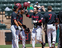 STANFORD, CA - JUNE 4: Eddie Park, Adam Crampton, Tim Tawa, Brock Jones during a game between North Dakota State and Stanford Baseball at Sunken Diamond on June 4, 2021 in Stanford, California.