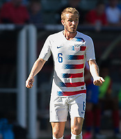 CARSON, CA - FEBRUARY 1: Jackson Yueill #6 of the United States during a game between Costa Rica and USMNT at Dignity Health Sports Park on February 1, 2020 in Carson, California.