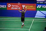 Ng Ka Long Angus of Hong Kong competes against Ajay Jayment of India during the 2016 Hong Kong Open Badminton Championships at the Hong Kong Coliseum on November 25, 2016 in Hong Kong, China. Photo by Marcio Rodrigo Machado / Power Sport Images