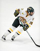 30 October 2009: University of Vermont Catamount forward Lindsey Cashman, a Junior from Milwaukee, WI, in action against the Northeastern University Huskies at Gutterson Fieldhouse in Burlington, Vermont. The Catamounts were shut out by the visiting Huskies 3-0. Mandatory Credit: Ed Wolfstein Photo